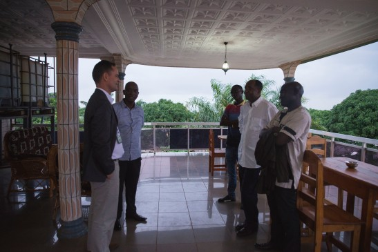 Ghislain Poissonnier (Ambassade de France), Boubacar Diallo (ReLAIS), Docteur Sow (FMG).